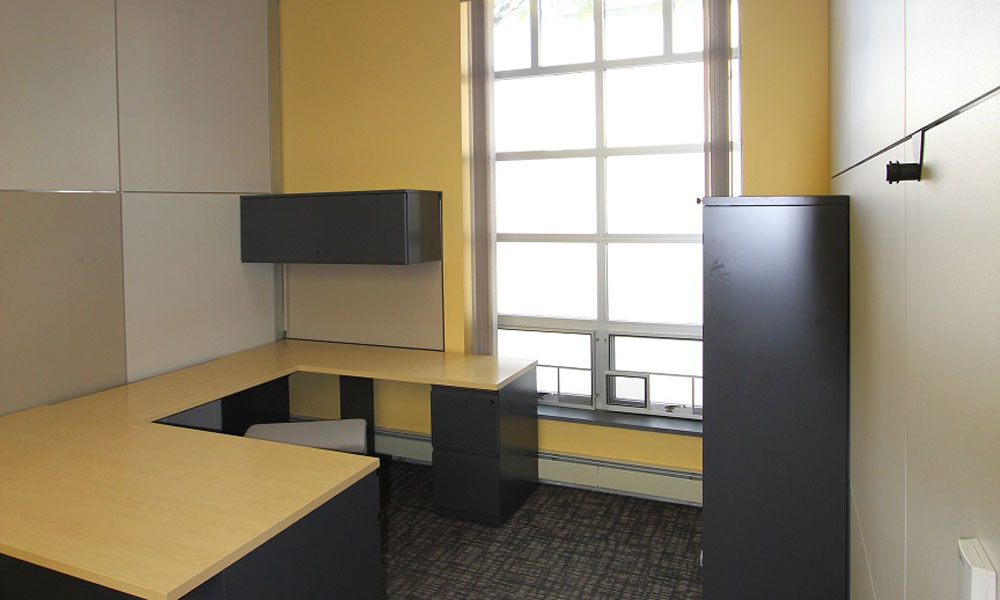 private office with window